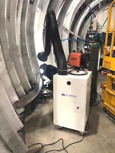 Weld fume extractor for factory use - NEW - CE marked / portable - 1.5kw 240v