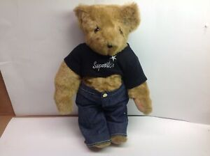 """Authentic Rare Vermont Teddy Bear Co 16"""" Superstar Max Jointed Arms & Legs Plush"""