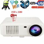 WIFI 3D 1080P 4800Lumens Projector Home Theater Cinema LED/LCD HDMI AV TV VGA HD