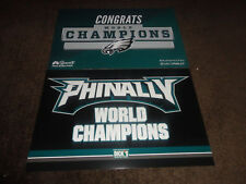 PHILADELPHIA EAGLES~Authentic Fan & Phinally Super Bowl Champions Dick's POSTER