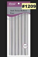 "ANNIE SOFT TWIST ROLLERS #1209 TOTAL 6PCS 11/16"" DIAMETER  10"" LONG"
