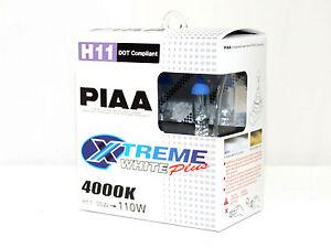 Piaa 4000K 55w=110w XTreme White H11 Halogen Fog Light Bulbs A