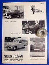 FIAT 1400-1100 ELR e Autoambulanza FIAT 1100 E FISSORE 1950