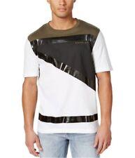 Sean John Men's Mixed Media Embellished T-Shirt 2XL # Grapeleaf