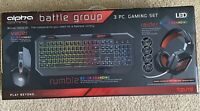 Alpha Gaming Battle Group 3 Pieces Keyboard Mouse Headset For PC Console