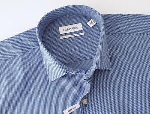 CALVIN KLEIN Mens NEW Slim Fit Button Long Sleeve Shirt Size 40 / 86 RRP $89