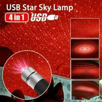 UK USB Car Interior Atmosphere Starry Sky Lamp Ambient Star Lights LED Projector