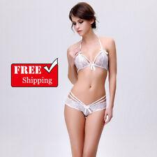 Women Sexy Lace Lingerie Sex-Toys G-String Bikini Nightwear Underwear For White