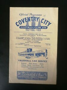 1948/9 COVENTRY CITY V WEST BROMWICH ALBION