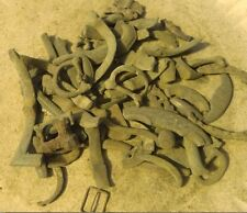 Medieval UNCLEANED ANCIENT buckle partials 14th-16th 6 ounces/60 pieces