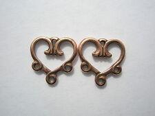 4 pc. Gold or Copper Finish TierraCast Minuet Design 2-1 Link Connector Antique Silver