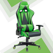DELUXE FAUX LEATHER RACING GAMING COMPUTER LIFT RECLINER EXECUTIVE SPORTS CHAIR