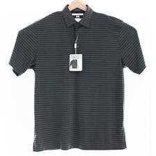 Greg Norman Men's Golf Polo Shirt ML75 Black Grey Tonal Stripe M,L,XL Brand New