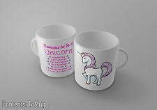 Motivi per essere un unicorno-Carino FANTASY DESIGN-Tè / Caffè Tazza / TAZZA-IDEA REGALO