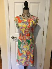 Lauren Ralph Lauren Women's Dress Paisley PM / M EUC