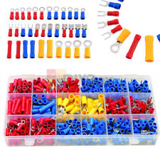 300pcs Assorted Insulated Electrical Wire Cable Terminal Crimp Connector Set Pvc