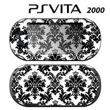 Vinyl Decal Skin Sticker for Sony PS Vita Slim 2000 Black & White Damask
