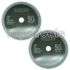 Worx Handycut wa5033/rw9228 76mm 50 Grit Ersatz Diamant Blades