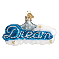"""Dream"" (36210) X Old World Christmas Glass Ornament w/OWC Box"