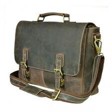 100% Genuine Real Vintage Leather Portfolio/Offtce/Laptop Bag