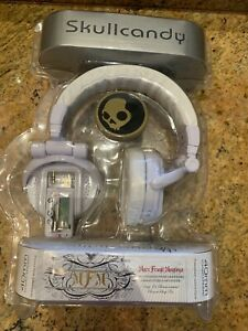 Skullcandy MFM 40mm Headphones WITH Built-In MP3 Player, White***RARE