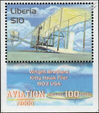 1903 Wright Brothers KITTY HAWK Flier.I (First Flight) Aircraft Stamp (Liberia)