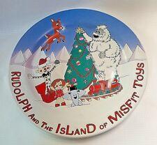 "NEW RUDOLPH AND THE ISLAND OF THE MISFIT TOYS 8"" COOKIES FOR SANTA CERAMIC PLATE"