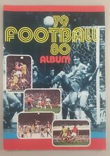 football sticker album 79/80 football album by transimage 5% complete
