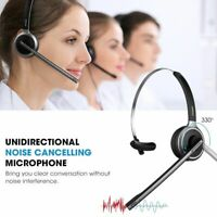 Mpow Office Trucker Bluetooth V4.1 Headphone Headset Over Head Earpiece with Mic