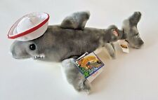 "HERRINGTON BEARS STUFFED PLUSH SHARK ""JAWS"" W/ REMOVABLE HAT 16"" STUFFED ANIMAL"