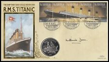 MILLVINA DEAN Signed 1998 St Vincent RMS Titanic Liberia $5 Coin Benham Cover