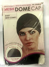 Mesh Dome Cap-Breathable- with Elastic band- #2254BLK