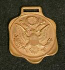 WWI Era AMERICA FIRST Watch Fob Great Seal 'Grammes & Sons' Allentown PA - Orig.