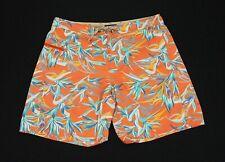 Patagonia Wavefarer Orange Floral Nylon Swim Board Shorts Mens 36