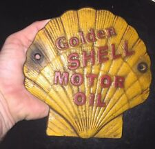 Shell Oil Sign Coal Gas Advertisement 1/4 inch HOTROD Metal Plaque Collector NR