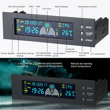 """5.25"""" Bay Front LCD Panel 3 Fan Speed Computer CPU Temperature Controller Sensor"""
