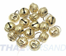 Glöckchen Schellen 17mm Durchmesser Gold Glocken Glocke Schelle