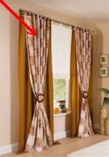 2x Fertigdeko Vorhang 135x245cm Schlaufen Schal Gardinen blickdicht braun kupfer