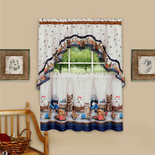 Precious Kitchen Curtain Set Tier and Swag Pets Kittens & Puppies - 58x36 -