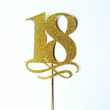 18 Cake Topper 18th birthday large cake toppers, party,gold party, custom letter