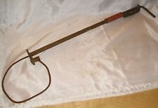 "Vintage Pig Catcher / Hog Holder - Steel Cable, 24"" Shaft, Lock"