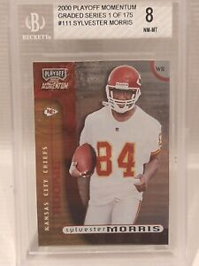 2000 Playoff Momentum #111 Sylvester Morris Rookie FB Card RC BGS 8 473/750