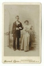19th Century Fashion - 1800s Cabinet Card Photo - Hamel Bros. of Suncook, NH