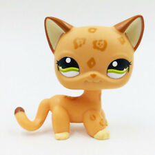Littlest Pet Shop LPS Toys #1120 Orange Short Hair Cat Green Eyes Children Gifts