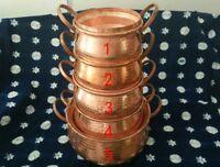 Handmade copper wok soup pot cooking pot