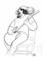 Al Hirschfeld's JERRY GARCIA, THE GRATEFUL DEAD Hand Signed Ltd Ed Lithograph