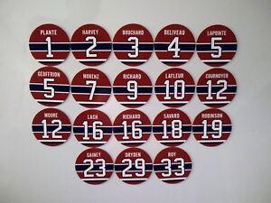 Montreal Canadiens Retired Jersey Magnets - Beliveau, Lafleur, Cournoyer, Dryden
