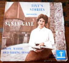 """Aust Vintage TINY'S STORIES narrated by SUSAN-GAYE OF GTV9 - 45 EP 7"""" RECORD"""