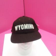 WYOMING COWBOYS - NEW FOOTBALL HAT - BROWN WOOL BLEND FLAT BRIM