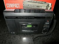 REALISTIC Compact Cassette Tape Recorder CTR-48 Radio Shack Vintage +TAPE